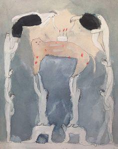 kosukeajiro: kosuke ajiro, dream on July 15 , 2014 Morning love affair with this art Graphic Design Illustration, Illustration Art, Aesthetic Painting, Naive Art, Figurative Art, Cat Art, Art Inspo, Watercolor Art, Art Drawings
