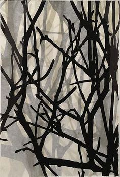 Helen Mueller, 'Requiem Study 13' 2013, woodblock print, overlayed - unique, 38 x 26cm