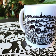 Spirit of Freo Anne Gee www.annabella67.com Paper cut, prints and coffee mugs xx