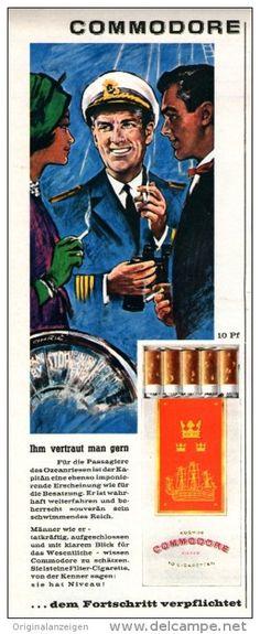 Original-Werbung/Inserat/ Anzeige 1960 - KOSMOS COMMODORE CIGARETTEN - ca. 100 x 320 mm