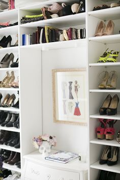 Organized shoes on shelves - closet inspiration