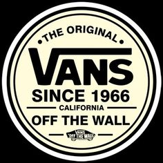 vans off the wall logo Surf Stickers, Tumblr Stickers, Cool Stickers, Printable Stickers, Laptop Stickers, Brand Stickers, Vans Logo, Tumblr Skate, Marken Logo