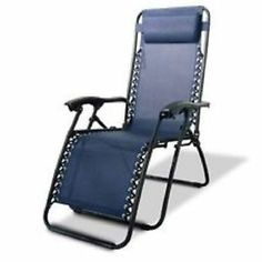Zero Gravity Patio Chair Lounge Recliner Outdoor Folding Pool Beach Canopy Lawn