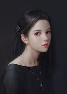 Image about girl in Art(♥ω♥*) by immeizuo on We Heart It Digital Art Girl, Digital Portrait, Portrait Art, Beautiful Fantasy Art, Beautiful Anime Girl, Anime Art Girl, Manga Girl, 3d Foto, Lovely Girl Image