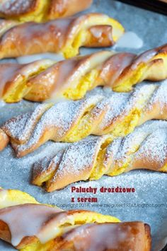 Sweet Bakery, Bread And Pastries, Polish Recipes, Hot Dog Buns, I Foods, Sweet Recipes, Bacon, Dessert Recipes, Food And Drink