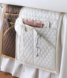 Love this Ann Gish Silk Bedside Caddy Bed Caddy, Bedside Caddy, Bedside Organizer, Bedside Storage, Pocket Organizer, Bedside Pocket, Bed Pocket, Embroidery For Beginners, Sewing For Beginners