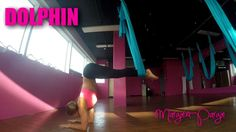 11-Dolphin Pose Aerial Yoga Tutorial with Margie Pargie