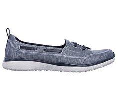 Skechers Women's Microburst Chic Choice Memory Foam Slip On Sneakers (Dark Gray) Sketchers Go Walk, Smart Styles, Slip On Sneakers, Skechers, Memory Foam, Walking, Sporty, Gray, Chic