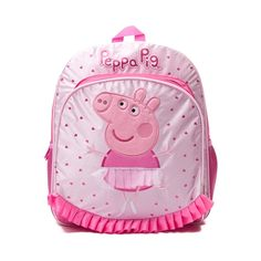 Shop for Peppa Pig Mini Backpack, Pink, at Journeys Shoes. Join Peppa for creative learning and fun with the new Peppa Pig Mini Backpack! The Mini Backpack includes a roomy main compartment with zipper closure, front utility pocket with zipper closure, and dual mesh side pockets. Peppa Pig has her back with adorable ballerina front appliques and flounce detailing. Includes top web haul handle and adjustable shoulder straps.Dimensions approx. L 12 x W 5 x H 16.5