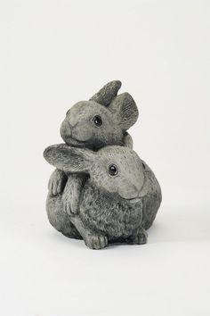 Oswaldtwistle Mills   Oakley Stone Animals - Twin Bunny