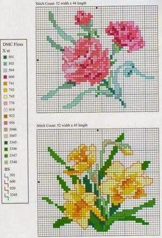 Картинки по запросу flores en punto de cruz