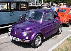 Purple Fiat 500. Super cute and I love the color;)