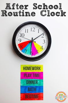 Use this after school routine clock to set a structured schedule for your kids…