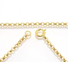2mm Cable Round Rolo Chain Necklace Extender Real Solid 14K Yellow Gold Genuine #BestGoldShop