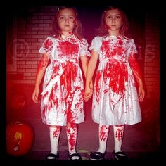 if i had twin girls i would totally dress them like this for halloween the - Bloody Halloween Masks