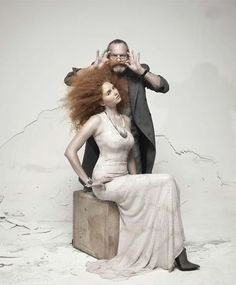 Tim Walker - Lily Cole & Terry Gilliam