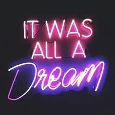 "New It Was All A Dream Pub Wall Decor Acrylic Neon Light Sign 14""   eBay"