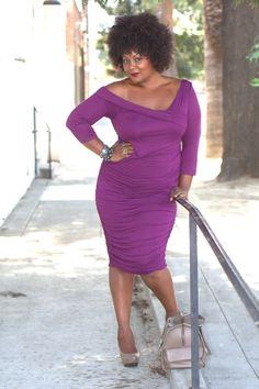 Marie Denee in Melissa Masse Plus Size Dress
