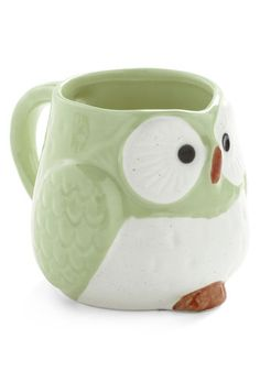 Owl Warm and Cozy Mug in Mint, #ModCloth