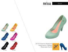 Sandália Melissa: Melissa Power Of Love: Todas as cartelas de cores e modelos