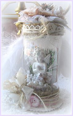 Beautiful altered jar