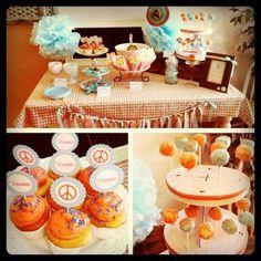 Aqua and Orange Party