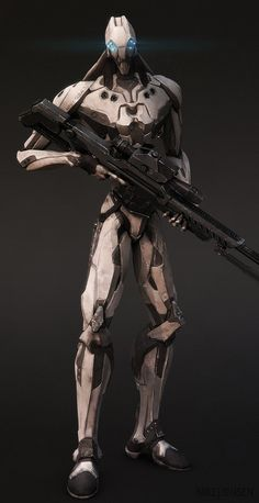Drone 04: The Sniper Picture  (3d, sci-fi, mech, zbrush, droid, drone, sniper)