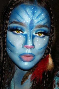 Avatar Halloween Makeup Idea For beautiful and unique fa. Avatar Halloween Makeup Idea For beautiful and unique fantasy makeup ideas browse our gallery. Makeup Clown, Sfx Makeup, Costume Makeup, Devil Makeup, Witch Makeup, Face Makeup Art, Makeup Eraser, Eyeliner Makeup, Skull Makeup
