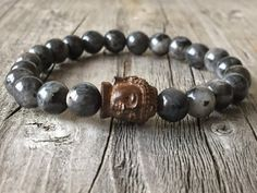 Buddha amband Heren armband Half edelsteen armband door KennlyDesign