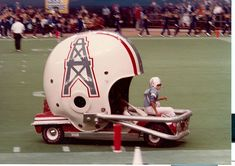 Houston Oilers helmet car