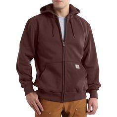 Carhartt Men's Paxton Heavyweight Full Zip Hoodie, Size: Large, Brown