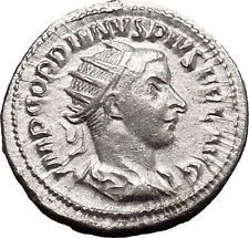 Gordian III 241AD Silver Authentic Ancient Roman Coin Zeus Jupiter Cult i49901