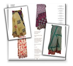 Boho Ethnic Print  Wrap Around Skirts by boho-chic-2 on Polyvore featuring Haute Hippie and Whiteley