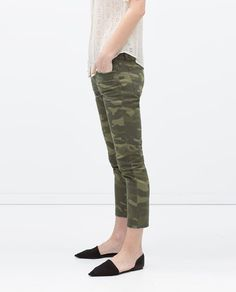 Image 3 of CAMOUFLAGE CIGARETTE JEANS from Zara