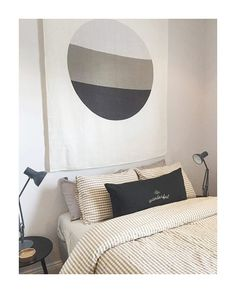 Love seeing our Linen Throws as artwork 😍 this beauty by @juliemanfredishoes who has just opened three rooms in her stunning Paddington home via @airbnb | #kateandkate #kklinen