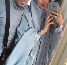 Shared by Amyra. Find images and videos about couple, islam and hijab on We Heart It - the app to get lost in what you love. Couples Musulmans, Cute Muslim Couples, Couples In Love, Hijabi Girl, Girl Hijab, Muslim Fashion, Hijab Fashion, Hijab Turban Style, Cute Couple Selfies