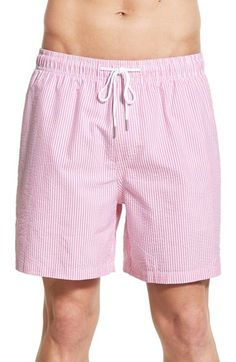 b6fadbd96e6b9 Southern Tide Stripe Seersucker Swim Trunks Southern Tide, Seersucker,  Drawstring Waist, Swim Trunks