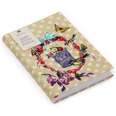 Floral birdcage hand-stitched journal