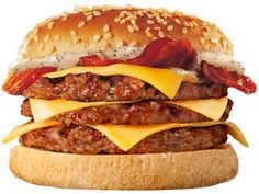 Burger King said test results revealed very small trace levels of horse DNA. BK has revealed that some of its burgers were contaminated in the horsemeat Food Font, Cheese Stuffed Peppers, What You Eat, Mcdonalds, Junk Food, Hamburger, Bacon, Steak, Tasty