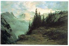 Doré paysage de montagne