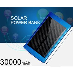 Noitce: Please choose the color you like or we will send random , The colors : Silver, Blue, Black, Red. Newest 30000mAh Solar Power Bank External Battery Solar Charger with USB LED Flashlight for iPhone/Samsung/HTC Mobile Phones Features: 1. Especially suitable for emergency occasions when you work or travel in the wild or power cut ...