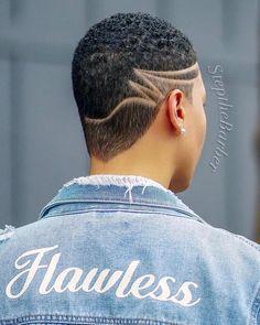 Natural Hair Short Cuts, Short Natural Haircuts, Tapered Natural Hair, Natural Hair Styles, Short Hair Designs, Shaved Hair Designs, Buzz Cut Hairstyles, Dope Hairstyles, Short Hair Syles