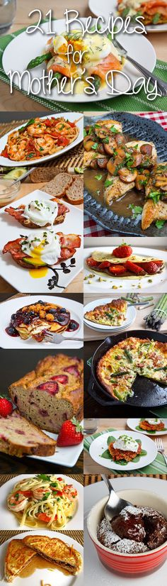 21 Mother's Day Recipes (not just for that day.these just look yum) Spring Recipes, Holiday Recipes, Great Recipes, Favorite Recipes, Interesting Recipes, Holiday Foods, Holiday Fun, Yummy Recipes, Recipies