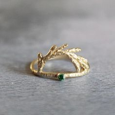 Leaf Ring, Gifts For Nature Lovers, Leaf Jewelry, Alternative Engagement Rings, Rings For Girls, Cute Rings, Delicate Rings, Solid Gold, Gold Rings