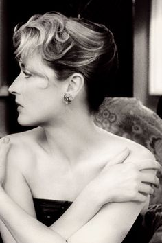 "Meryl Streep, I would only Guess that the photo is from the film, ""Plenty""...it may be just a photo!"