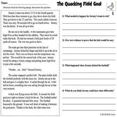 Need high interest reading passages for those kids who won't stop talking about that touchdown last night? Try these FOOTBALL FICTION fluency and fun reading comprehension passages with four written CCSS questions each. Ten passages in one level including a repeated reading fluency sheet and vocab ... Reading Lessons, Kids Reading, Writing Lessons, Close Reading, Reluctant Readers, Struggling Readers, Reading Comprehension Passages, Reading Fluency, Teacher Resources