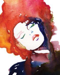 Mode-Illustration-Grafik Aquarell von silverridgestudio auf Etsy