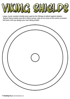 viking helmet and shield worksheets teaching resource