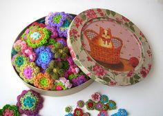 Ganchillo de flores   Flickr - Photo Sharing!