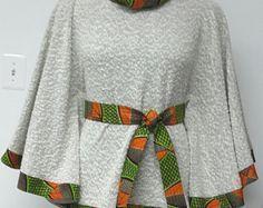 Hi-Lo Top. Long Sleeves. African Print. Dashiki. by NanayahStudio